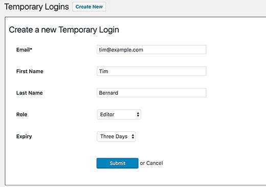 temperory-login-wordpress-interface-1