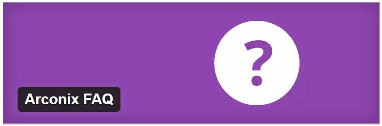 Arconix FAQ plugin