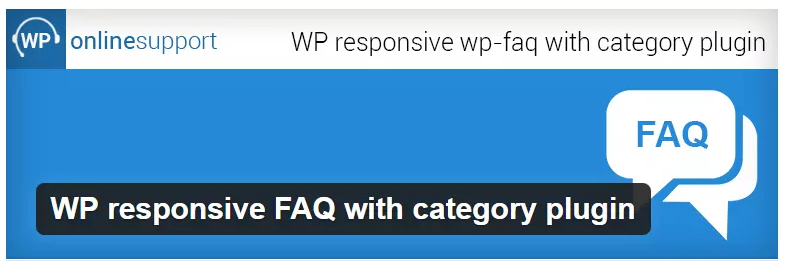 wp responsive FAQ With Category Plugin