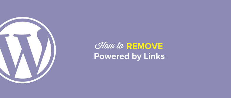 How To Remove Links Encoded In The Footer Of WordPress Template?
