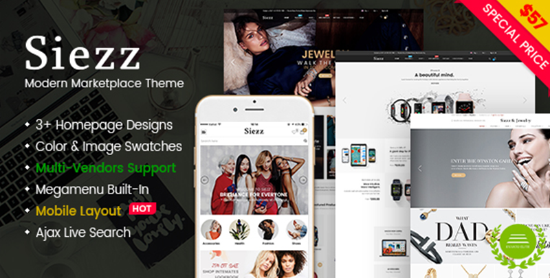 Siezz - Modern Multipurpose MarketPlace WordPress Theme