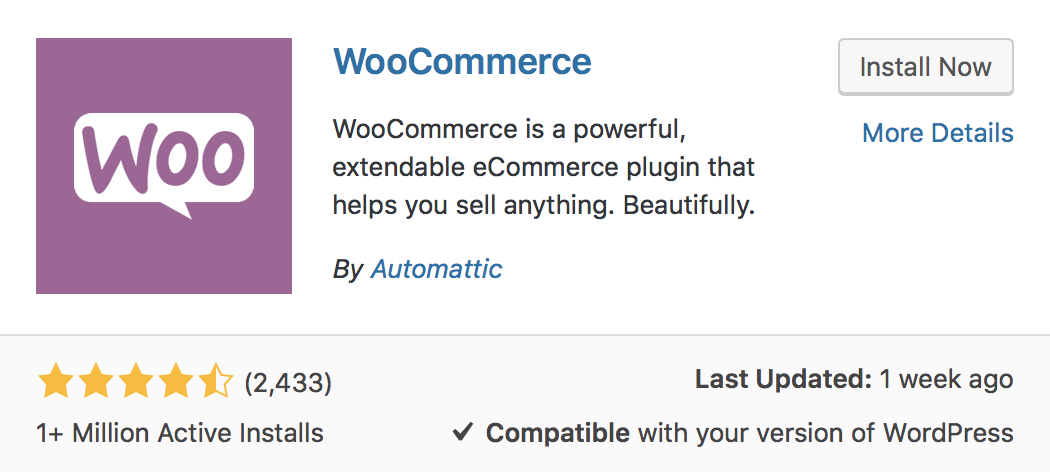WooCommerce Installation and Activation